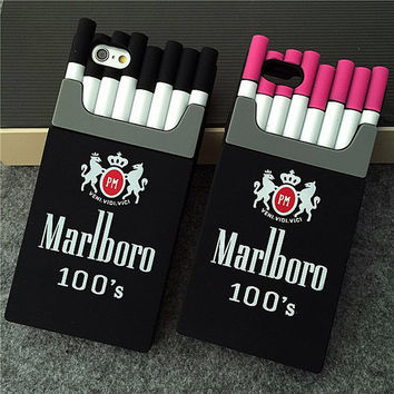 SC10 Fashion Cool Cigarette Silicone Phone Case Covers For iPhone 5 5s 6 6s Plus SE Mobile Phone Protector Back Shell Housing