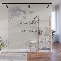 fresh flower market Wall Mural by sylviacookphotography