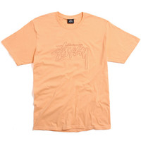 Stock Embroidered T-Shirt Peach