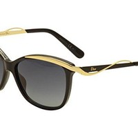 Christian Dior W-SG-3083 Christian Dior Dior Metaleyes 2-S C7VHD - Black Rose Gold Womens Sunglasses, 57-14-140 mm
