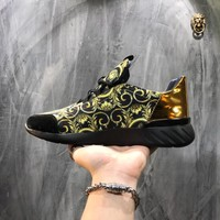 Versace Print Canvas Sneakers Dsu6765 - Best Online Sale