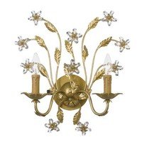 Contessa Two Light Wall Sconce Crystorama Lighting Group 2 Light Armed Candle Wall Sconces