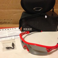 NEW Oakley - Radar Path - Sunglasses, Infrared / Slate Iridium, 09-720J