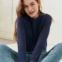 Silence + Noise Open Stitch Raglan Sleeve Sweater | Urban Outfitters