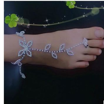 Jewelry Shiny Sexy Gift Stylish Ladies New Arrival Cute Rhinestone Beach Anklet [1292353830979]