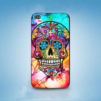 Sugar Skull Colorful Crackout customized for iphone 4/4s/5/5s/5c ,samsung galaxy s3/s4/s5 and ipod 4/5 cases