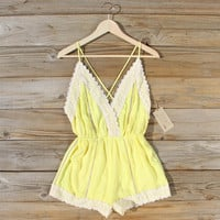 Whiskey & Rye Romper in Yellow