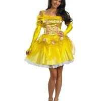 Disney Beauty and the Beast Sassy Princess Belle Adult Womens Costume