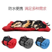 Pet Supplies Outdoor Portable Waterproof Foldable Roll Up Sofa Dog Cushion Dog Bed Kennel