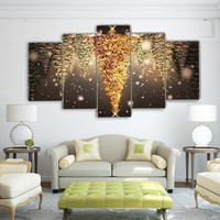 Upside Down Christmas Tree Wall Art :) Nice holiday panel art on print canvas