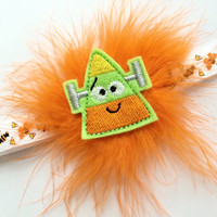 Halloween Headband for Girls - Candy Corn Headband - Frankenstein Headband - Baby Headband for Halloween - Puffy Headband Photo Prop