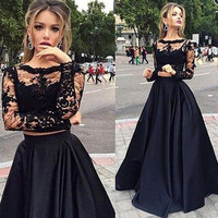 Two Piece Long Prom Dress   I170