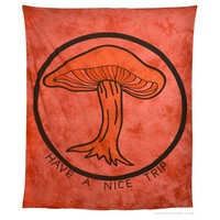 Have A Nice Trip Tapestry Red on Sale for $19.99 at The Hippie Shop