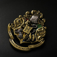 Hot New Harry Potter Hogwarts Godric Gryffindor  Csoplay Accessories Logo LITTLE WIZARD Brooch Badge