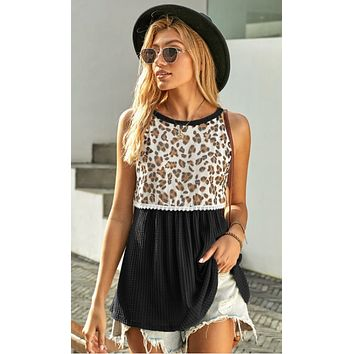Wild and Free Leopard Tank Top