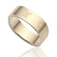 Louis Vuitton LV Fashion Women Men Classic Couple Titanium Steel Ring Jewelry Accessories