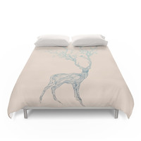 Society6 Blue Deer Duvet Cover