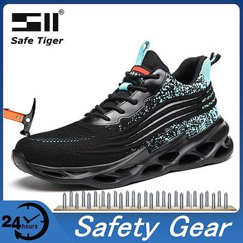 S1P and ESD Certified Mens Safety Work Shoe Wear-resistant Steel Toe Boots