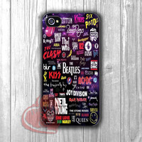 The Beatles and Musicians Logo collage galaxy nebula-5ho for iPhone 6S case, iPhone 5s case, iPhone 6 case, iPhone 4S, Samsung S6 Edge