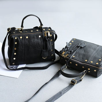 Rivet Leather Vintage One Shoulder Bags [6048703873]