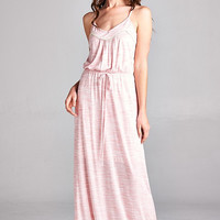 Backyard Barbecue Maxi Dress  - Rose