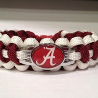 Custom Football Paracord Bracelets Made with Team Spirited Charm - Alaba...... | craftcreationswithparacord - Jewelry on ArtFire