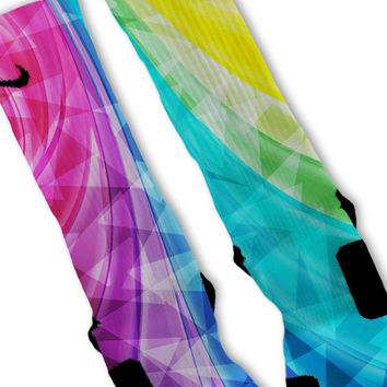 Glowing Prism Custom Nike Elite Socks