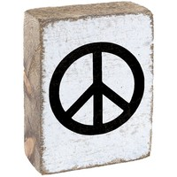 Peace Sign | Wood Block Sitter | 6-in