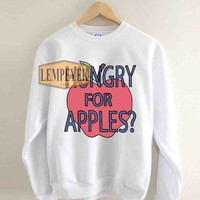 Rick & Morty Hungry For Apples Sweatshirt Men And Women Unisex Size