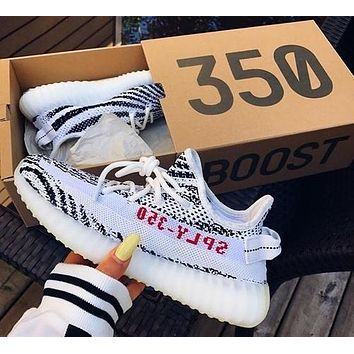 Yeezy 550 Boost 350 V2 Adidas Grey White I Shoes sneakers