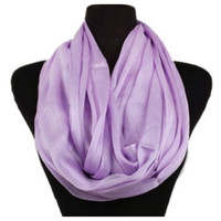 Delicate Days Lightweight 100% Rayon Violet Infinity Scarf