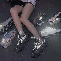 Adidas Yeezy 700 Runner Boost Hot Sale Couple Casual Sneakers Black