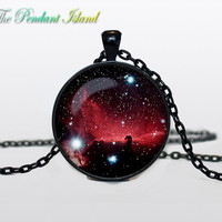 NEBULA Pendant Horsehead Nebula Nebula Necklace Galaxy necklace Space Jewelry Necklace for him  Art Gifts for Her
