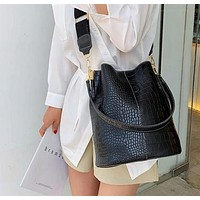 Blake Shoulder Bag -Black Croc