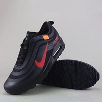 Trendsetter Off White X Nike Air Max Fashion Casual  Sneakers Sport Shoes