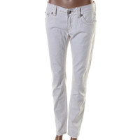 Miss Me Womens Low-Rise White Wash Colored Skinny Jeans