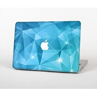 """The Vector Shiny Blue Crystal Pattern Skin Set for the Apple MacBook Pro 13"""" with Retina Display"""