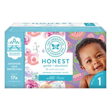 The Honest Company Rose Blossom/Sliced Fruit Size 1 Club Box Diapers | Nordstrom