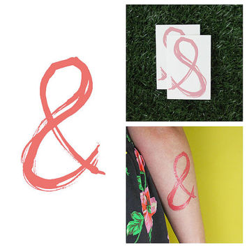 And  - Temporary Tattoo (Set of 2)