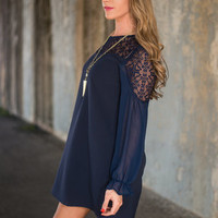 The Selena Dress, Navy