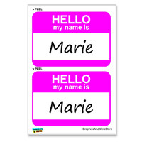Marie Hello My Name Is - Sheet of 2 Stickers