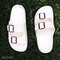 white buckle jandals® - pali hawaii Jesus sandals