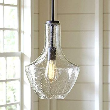 Designer Light Bulbs - Will not Break in Shipping - 60w Dimmable Industrial Pendant Filament Amber Color Light Bulbs - Vintage Style Home Design for Wall Sconces, Chandeliers - E26/E27 6 Pack 6-pack