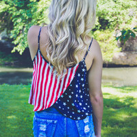 Lady Liberty Crop Top