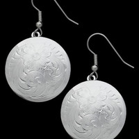 Montana Silversmiths® Ladies' Floral Concho Earrings