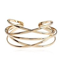 Fashion Gold Bohemian Cuff Bangle Bracelet