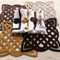 """""""Rope Gate"""" Place Mats, Napkins, and Napkin Rings - Horchow"""