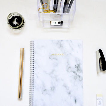 A5 Notebook Gold Marble Notebook Notebook Handmade Simple Journal Diary Planner Sketchbook Gift Writer School 5.8 x 8.3 in