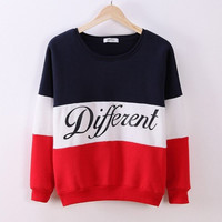letter printed women pullovers tops sweat-shirts blouse sweater thick tracksuits sudaderas clothes TIML66