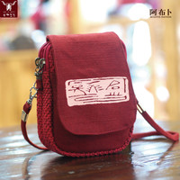 Meiyi B244 Women Ladies Wallet Purse Canvas Ethnic Coin Cell Phone Case Mini Crossbody Shoulder Bag iPhone 6 Plus Pouch Handbag